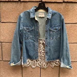 Sea New York denim and lace jacket